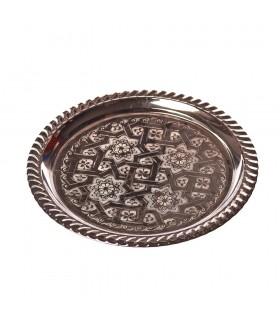 Arabic recorded for Te-alpaca or brass tray - various diameters