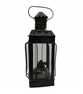 Lampada ad olio paraffina - forgiatura e Cristal-Base con cotone stoppino - Lanterna