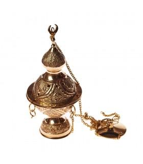 Al-Andalus Räuchergefäß mit Kette-Bronze - DELUXE - limitierte Auflage