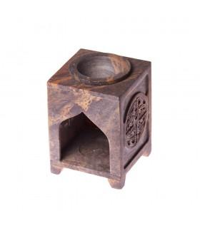Essences de brûleur Mandala - pierre stéatite - 10 cm
