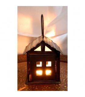 Bougie lanterne maison - faite en forgeage