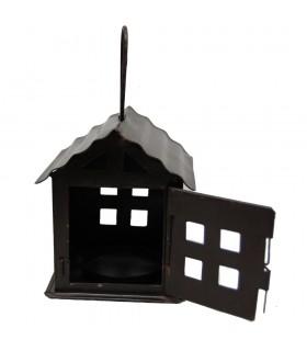 Vela lanterna casa - feita em forjamento