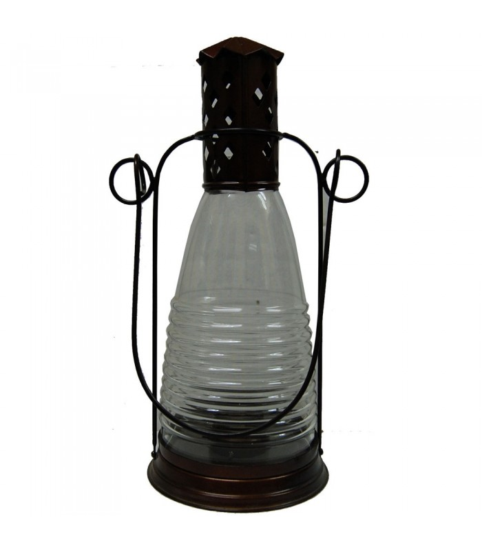 Candle Bottle lantern - Pottery and Glass