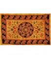Fabric cotton India-Elefante pecock-artisan-140 x 210 cm