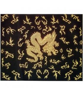 Stoff Baumwolle-Indien - chinesische Drachen - 210 x 140 cm