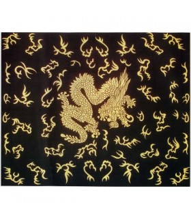 Tessuto cotone-India - drago cinese - 210 x 140 cm