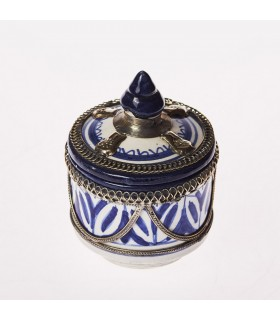 Bombonera cerâmica/Alpaca - artesão