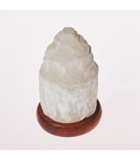 Lâmpada de Selenito Mineral Natural - USB - Catedral