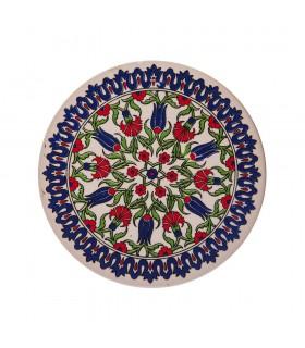 Vaso di ceramica opaca turco - rotondo
