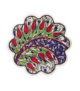 Pot céramique mat turc - fleurs