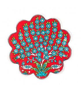 Matte Keramik Türkisch-Topf - Blumen