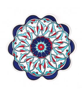 Pot mat pottery Turkish - flower