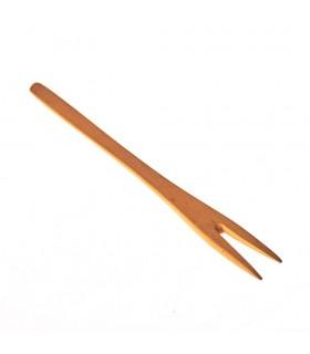 Tenedor Madera - Dos Púas - 100% Artesanal - 16 cm