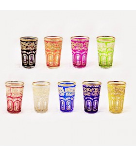 6 Tea Glasses Model FATH 1 - Several Colors