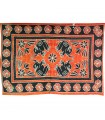 Indian Cotton Fabric- Floral Elephants -Artesana-140 x 210 cm