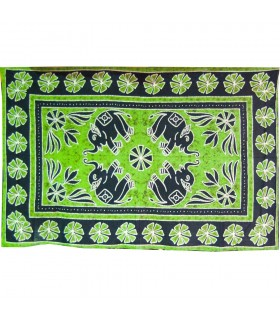 India-Cotton -Elephant Floral-Artisan-140 x 210 cm