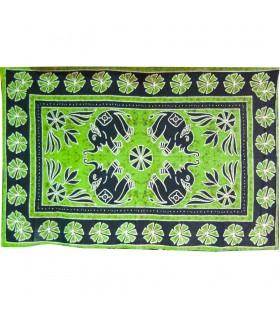 Ткань хлопок шерсть Индия - слоны цветочно - ремесленника-140 x 210 см
