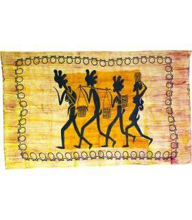 Tissu de coton en Inde-Chamine aux marche-Artisanat-140 x 210 cm