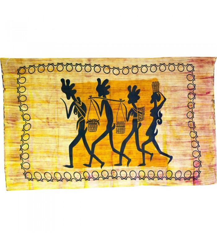 Tela Algodon India-De Camino al Mercado -Artesana-140 x 210 cm