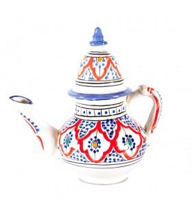 Théière en céramique de - 2 pièces - arabes peints à la main