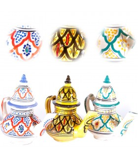 Hand painted Arab ceramic - 2 pieces - teapot