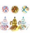 Bule cerâmica árabe - 2 peças - Pintado à mão