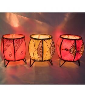 Porta Kerzen Runde Haut - gemalt mit Henna - verschiedene Modelle