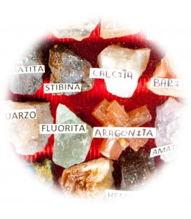 Minéraux de collection - meuble verre - 2 tailles d'affichage