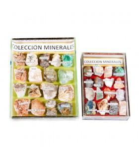 Minerais de coleção - exibir armário vidro - 2 tamanhos