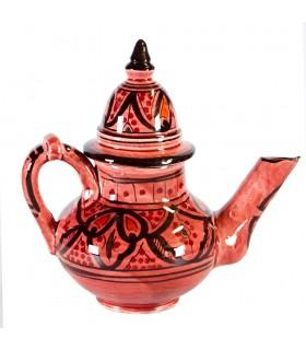 Teiera di ceramica - 2 pezzi - arabi dipinti a mano