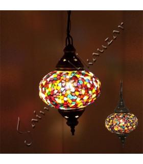 Türkische Lampe - Glas Murano - Mosaik - hohe Qualität - 17 cm