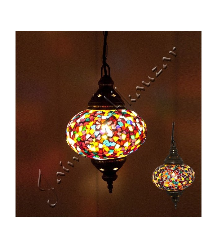 Lampara Turca - Cristal Murano - Mosaico - Gran Calidad - 17 cm