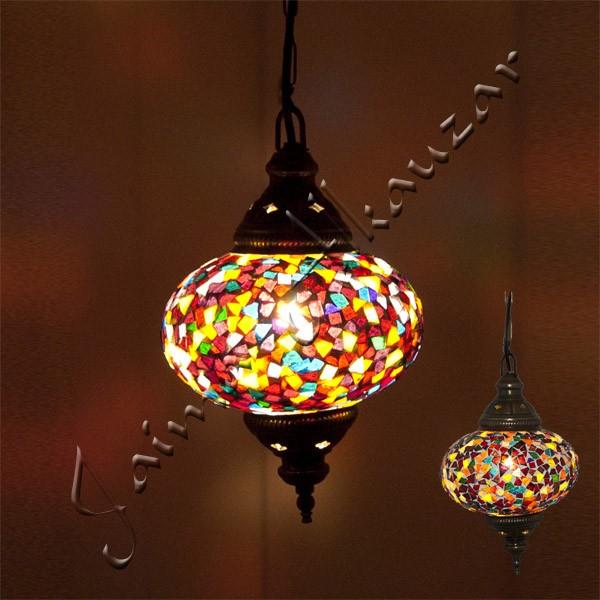 Lampara Turca - Cristal Murano - Mosaico - Gran Calidad - 17 cm Publico