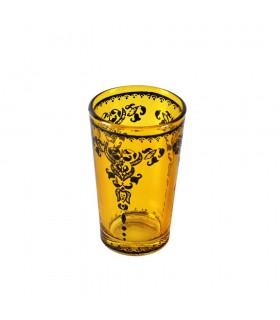 Juego 6 Vasos de Té Grabados -  Filigrana Floral Henna - Diseño Tuareg