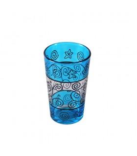 Juego 6 Vasos de Té Grabados -  Filigrana Floral Henna - Diseño Tuareg 2