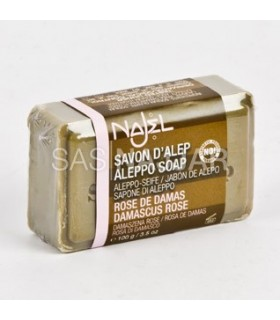 Jabón Natural - Oliva y Laurel Con Rosa Damasco - 100 Gr A l e p o