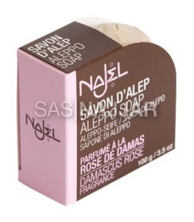 Jabón De Alepo- Rosa De Damasco - Formato Deluxe - 100 g