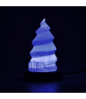 Lámpara Selenita Esfera - USB - Mineral Natural
