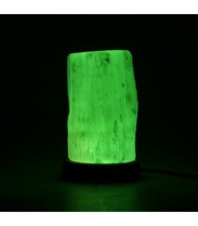 Lámpara Selenita Tronco - USB - Mineral Natural