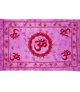 Material Indien-Ohm Farbe Baumwolle - Hand-in Handarbeit-210 x 140 cm