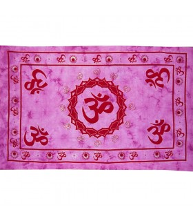 India-Cotton Red Ohm-Crafts-210 x 140 cm