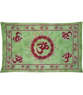 Tessuto cotone colore India-Ohm - mano artigianale-210 x 140 cm