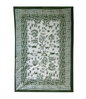 India-Cotton- Village open  -Artisan-210 x 140 cm