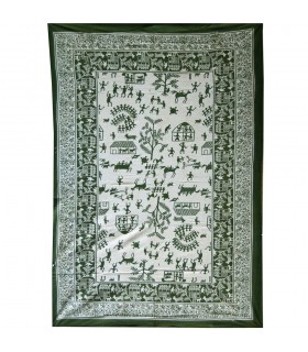 India-Cotton- Village open  -Artisan-210 x 140 cm