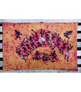 Tecido de algodão de India-Hakuna Matata-artesão-75 x 110 cm