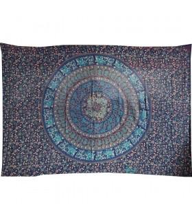 Fabric cotton Floral-Artesana India-Esfera - 210 x 240 cm