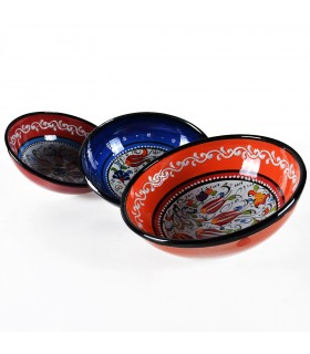 Bowl Turkish - handpainted embossed - assorted models
