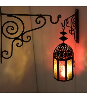 Кованого железа крюк для ламп и Faroles-Ганчо пальто вешалка ремесла