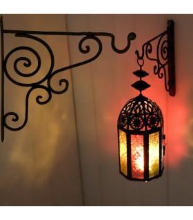 Gancio in ferro battuto per lampade e mestieri appendiabiti Faroles-Gancho-cappotto