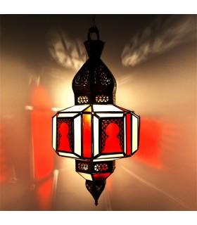 Lámpara Arcos - Cristales Blanco y Naranja - Gran Calidad 70 cm